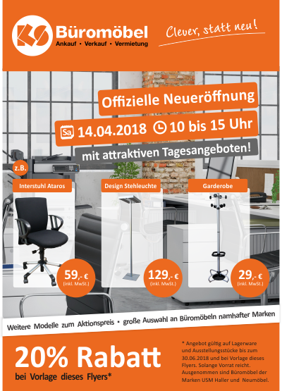 Offizielle Neueröffnung KS Büromöbel | J. & G. Adrian GmbH ...